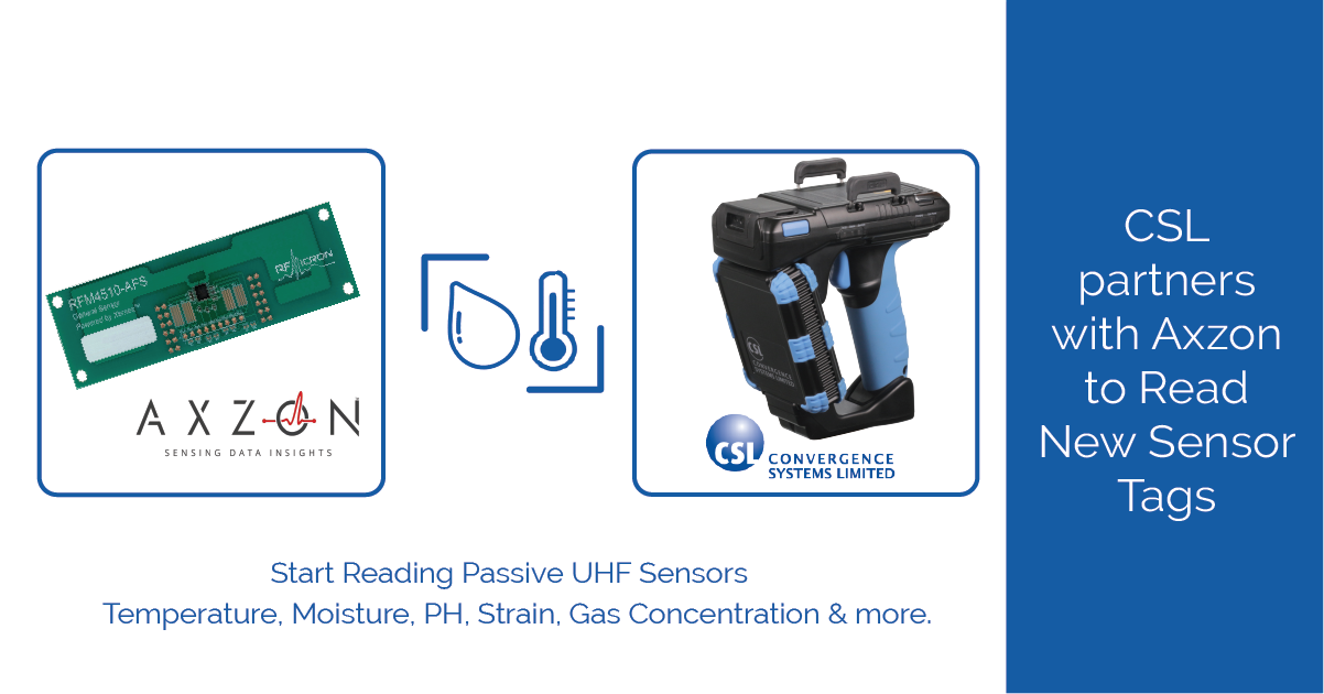 CSL Partners with Axzon to Read New Sensor Tags.